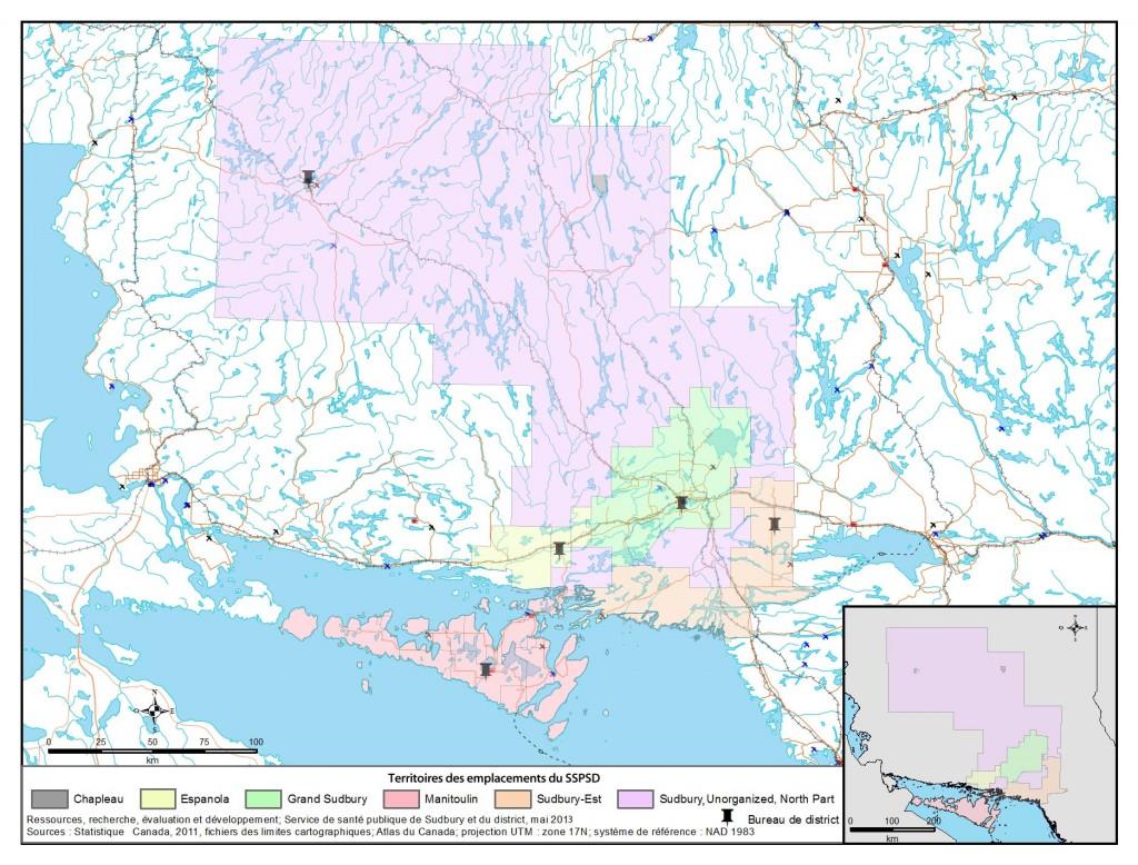 Description de la carte: Il s'agit d'une carte du secteur de Sudbury, Unorganized, North Part.
